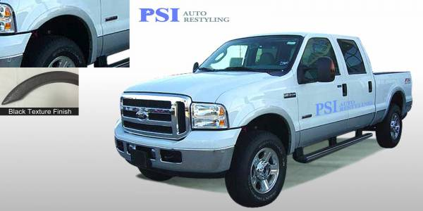 PSI - 2007 Ford F-350 Super Duty Rugged Style Textured Fender Flares