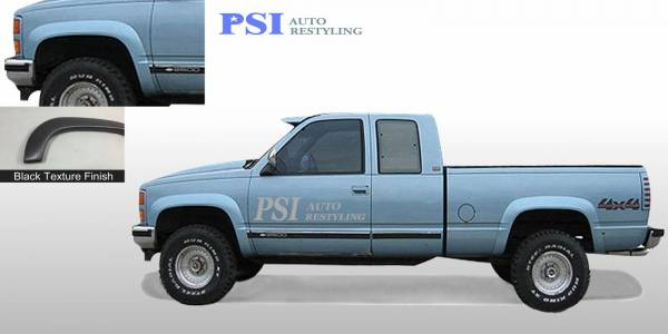 PSI - 1988 GMC K 1500 Rugged Style Textured Fender Flares