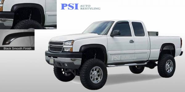 PSI - 2006 Chevrolet Silverado 1500 Rugged Style Smooth Fender Flares
