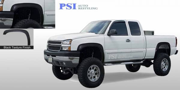 PSI - 2003 Chevrolet Silverado 1500 Rugged Style Textured Fender Flares