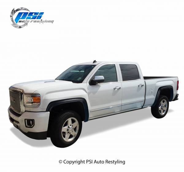 PSI - 2016 GMC Sierra 3500 OEM Style Smooth Fender Flares