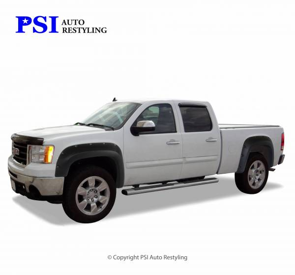 PSI - 2009 GMC Sierra 3500 Pocket Rivet Style Textured Fender Flares