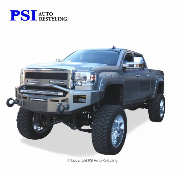 PSI - 2015 GMC Sierra 3500 Pocket Rivet Style Smooth Fender Flares