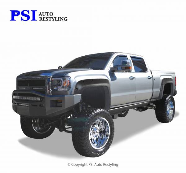 PSI - 2015 GMC Sierra 3500 Pocket Rivet Style Textured Fender Flares