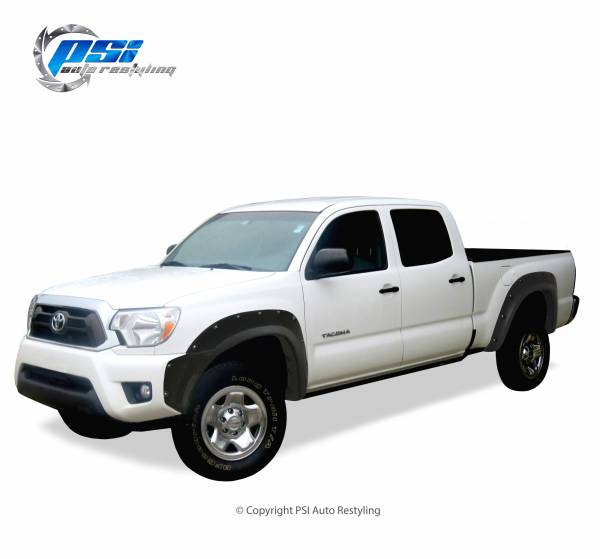 PSI - 2013 Toyota Tacoma Pocket Rivet Style Textured Fender Flares