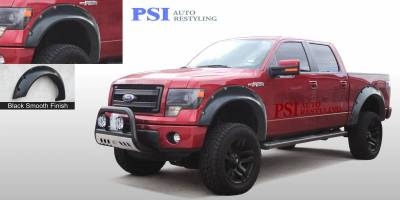 Cut Round Style - Smooth Paintable - PSI - 2014 Ford F-150 Cut Round Style Smooth Fender Flares
