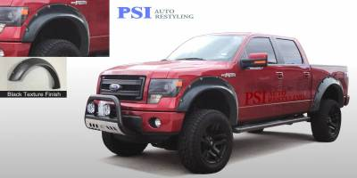 Cut Round Style - Textured - PSI - 2012 Ford F-150 Cut Round Style Textured Fender Flares