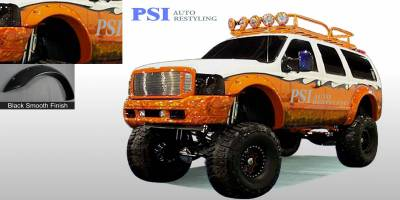 Cut Round Style - Smooth Paintable - PSI - 1999 Ford F-250 Super Duty Cut Round Style Smooth Fender Flares