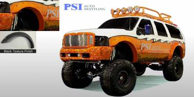 Cut Round Style - Textured - PSI - 2001 Ford F-250 Super Duty Cut Round Style Textured Fender Flares