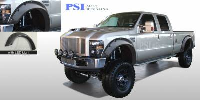Cut Round Style - Textured - PSI - 2008 Ford F-250 Super Duty Cut Round Style Textured Fender Flares