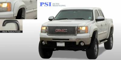 PSI - 2009 GMC Sierra 1500 Extension Style Textured Fender Flares - Image 1