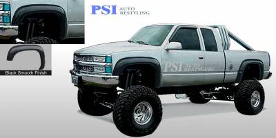 Extension Style - Smooth Paintable - PSI - 1988 GMC K 1500 Extension Style Smooth Fender Flares
