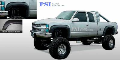 Extension Style - Textured - PSI - 1990 GMC K 1500 Extension Style Textured Fender Flares