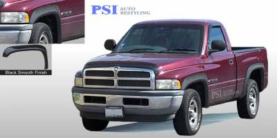 Extension Style - Smooth Paintable - PSI - 1994 Dodge RAM 3500 Extension Style Smooth Fender Flares