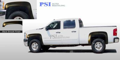PSI - 2011 Chevrolet Silverado 1500 OEM Style Smooth Fender Flares - Image 1