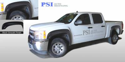 OEM Style - Smooth Paintable - PSI - 2009 Chevrolet Silverado 1500 OEM Style Smooth Fender Flares