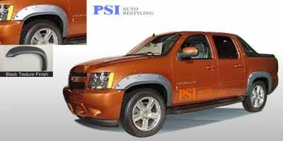 PSI - 2013 Chevrolet Avalanche Pocket Rivet Style Textured Fender Flares