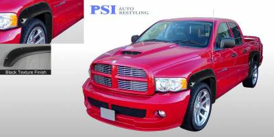 Pocket Rivet Style - Textured - PSI - 1994 Dodge RAM 1500 Pocket Rivet Style Textured Fender Flares
