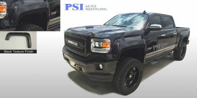 PSI - 2016 GMC Sierra 1500 Pocket Rivet Style Textured Fender Flares - Image 1