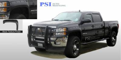PSI - 2012 Chevrolet Silverado 2500 Pocket Rivet Style Textured Fender Flares