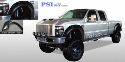 Pop-Out Style - Smooth Paintable - PSI - 2008 Ford F-350 Super Duty Pop-Out Style Smooth Fender Flares