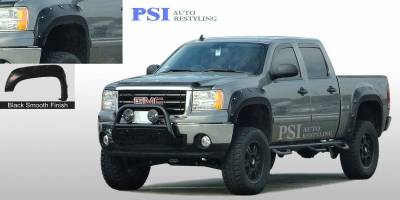 Pop-Out Style - Smooth Paintable - PSI - 2009 GMC Sierra 1500 Pop-Out Style Smooth Fender Flares
