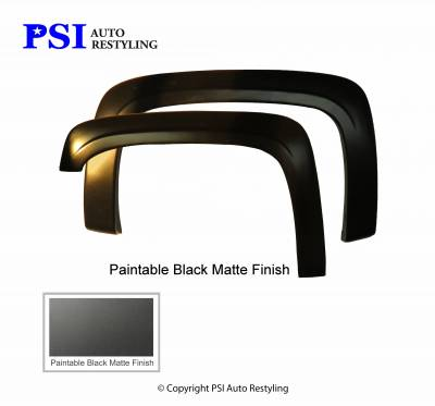PSI - 2010 Chevrolet Silverado 1500 OEM Style Smooth Fender Flares - Image 2