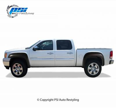OEM Style - Smooth Paintable - PSI - 2007 GMC Sierra 1500 OEM Style Smooth Fender Flares