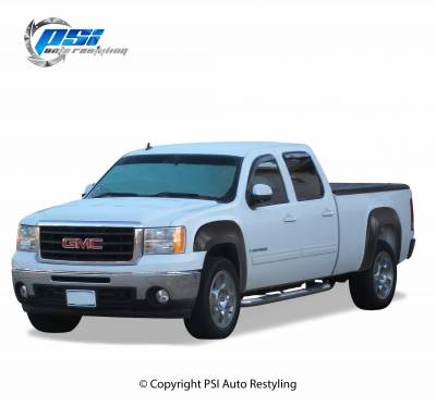 OEM Style - Smooth Paintable - PSI - 2009 GMC Sierra 1500 OEM Style Smooth Fender Flares