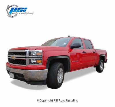 PSI - 2014 Chevrolet Silverado 1500 OEM Style Smooth Fender Flares - Image 1