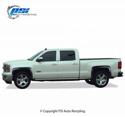 PSI - 2014 Chevrolet Silverado 1500 OEM Style Smooth Fender Flares - Image 2