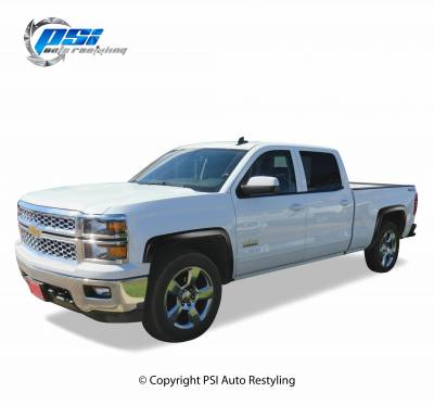 PSI - 2014 Chevrolet Silverado 1500 OEM Style Smooth Fender Flares - Image 5