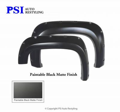 PSI - 2009 GMC Sierra 2500 Pocket Rivet Style Smooth Fender Flares - Image 3