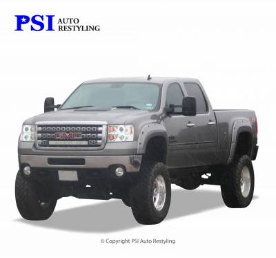 PSI - 2009 GMC Sierra 3500 Pocket Rivet Style Smooth Fender Flares - Image 1