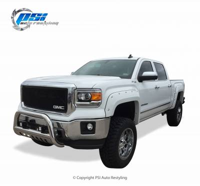 PSI - 2016 GMC Sierra 1500 Pocket Rivet Style Smooth Fender Flares - Image 2