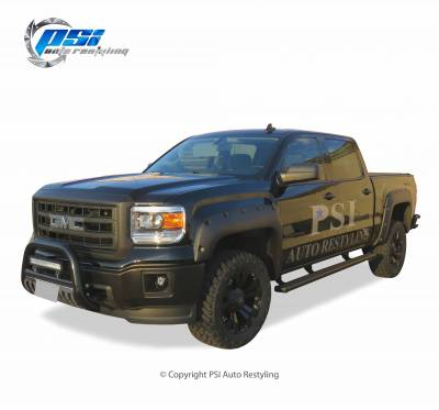 PSI - 2016 GMC Sierra 1500 Pocket Rivet Style Textured Fender Flares - Image 2