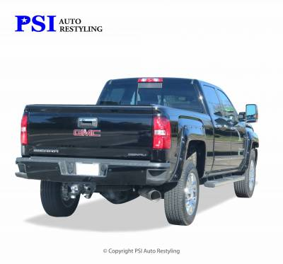 PSI - 2015 GMC Sierra 3500 Pocket Rivet Style Smooth Fender Flares - Image 4