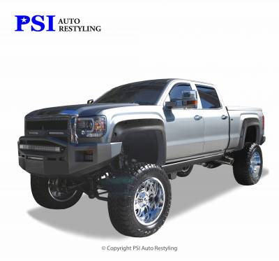 PSI - 2015 GMC Sierra 3500 Pocket Rivet Style Textured Fender Flares - Image 1