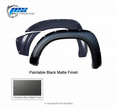 PSI - 2013 Toyota Tacoma Pocket Rivet Style Smooth Fender Flares - Image 3