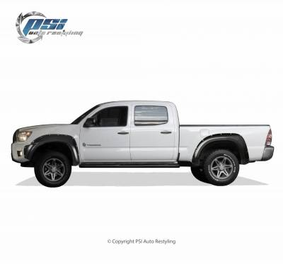 PSI - 2013 Toyota Tacoma Pocket Rivet Style Smooth Fender Flares - Image 4
