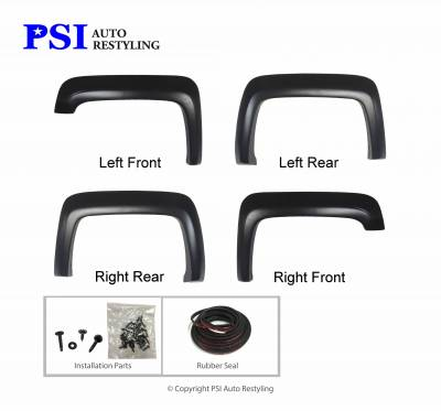 PSI - 2015 GMC Sierra 3500 Extension Style Smooth Fender Flares - Image 2